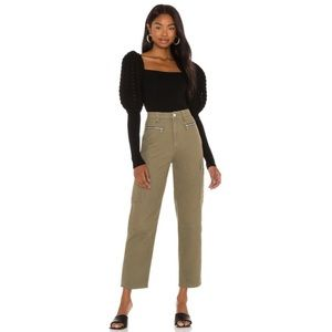 NEW WeWoreWhat Olive Utility Pant Green Size 26